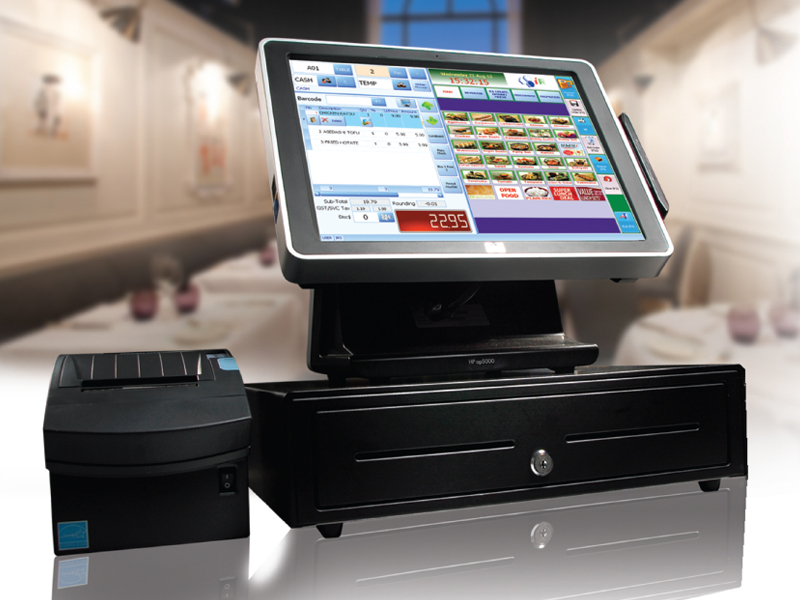 Restaurant POS System with Touchscreen