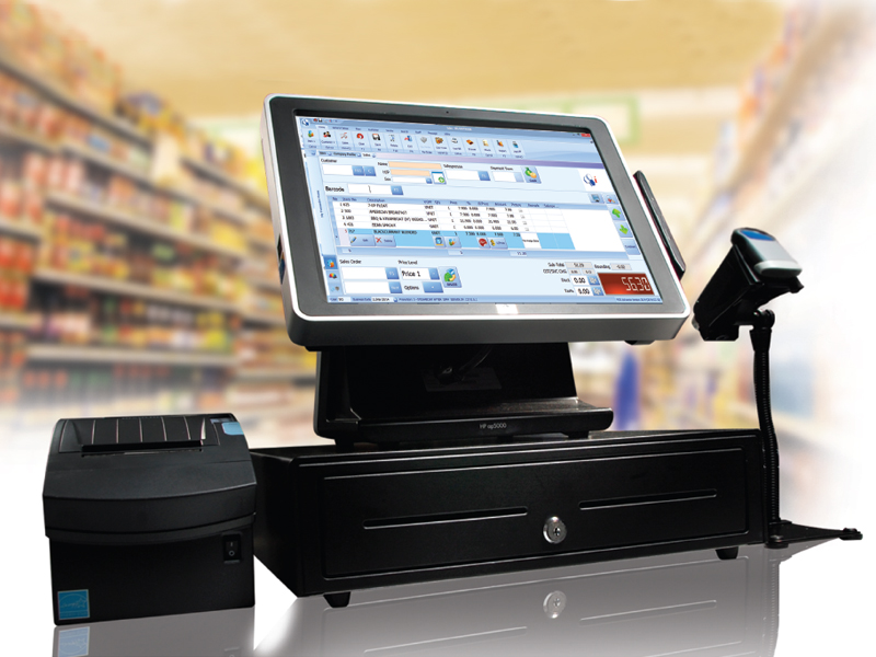 Retail POS System with Touchscreen